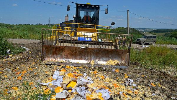 Россельхознадзор уничтожил фактически 11 тыс. тонн санкционных товаров с2015-го