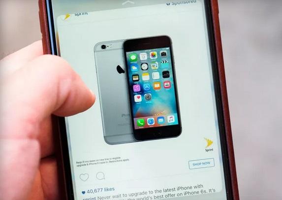 Instagram вводит покупку с функцией 3D Touch