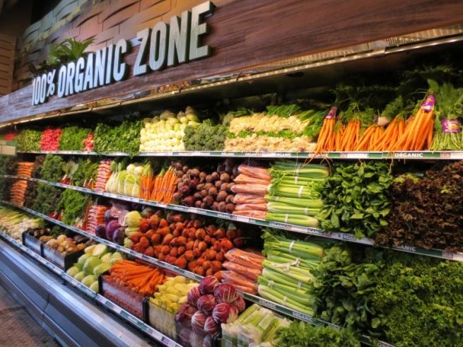Оформление прилавка в магазине овощи фрукты