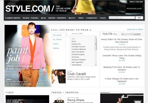 Сайты о моде