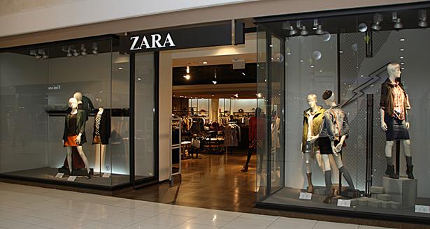 Оформление витрин магазинов zarina
