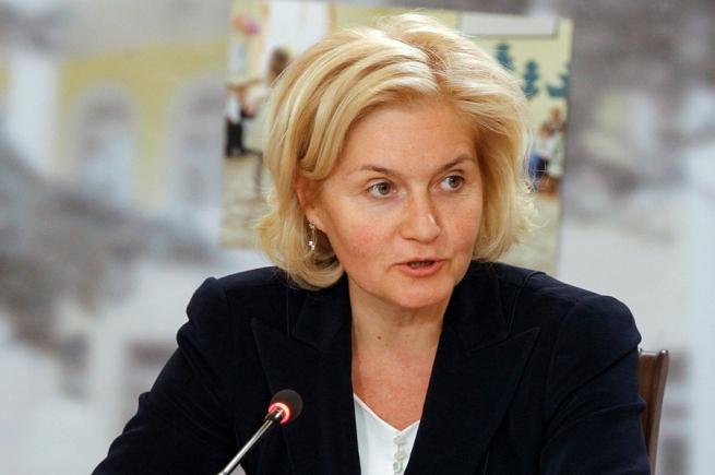 Ольга Голодец покупает владимирские йогурты в «Азбуке вкуса»