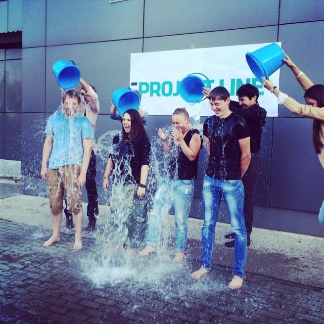 Команда Project Line приняла участие в Ice Bucket Challenge