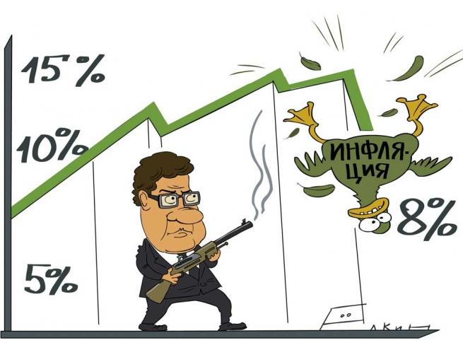 Инфляция в России замедлилась до 0,1%