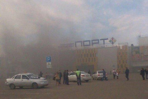 Пожар произошел в торговом центре «Порт» в Казани