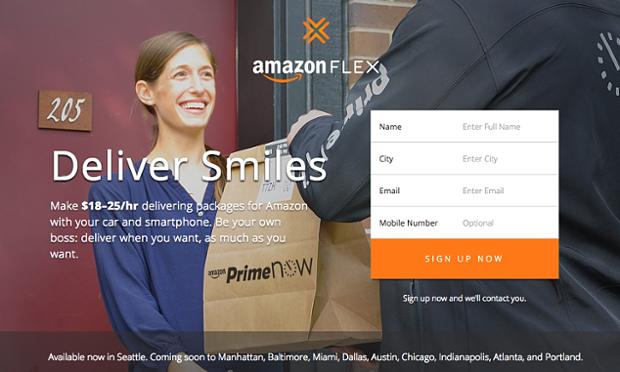 Amazon будет доставлять товары по модели Uber