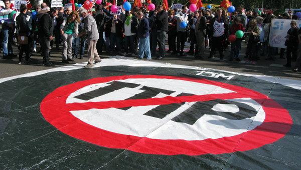 В Европе прошли митинги против торгового соглашения с США