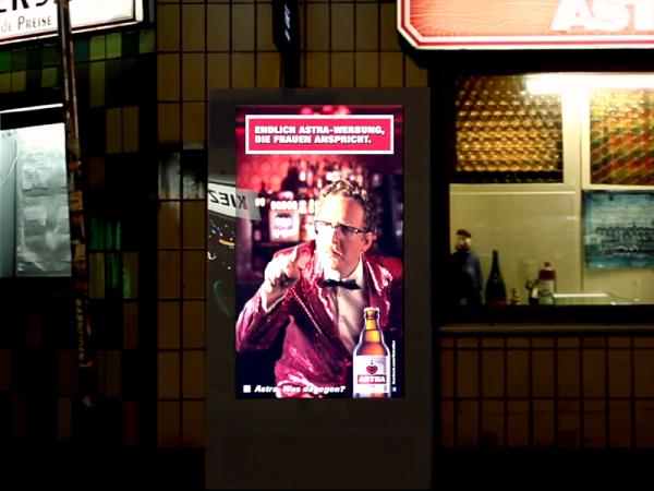 В Германии билборды разговаривают только с женщинами