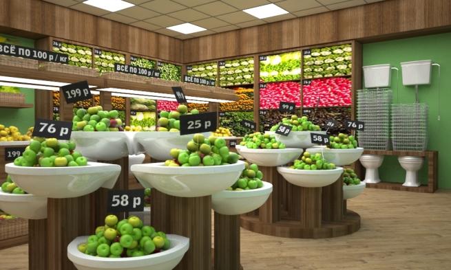 Компания Project Line представила революционную концепцию овощного магазина