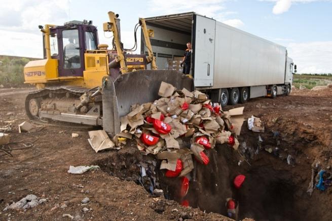 За день Россия уничтожила более 300 тонн санкционных продуктов