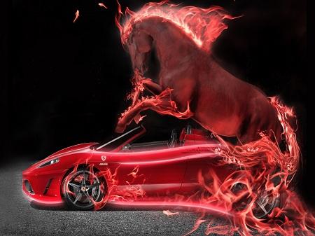 Ferrari отправили в скоростной полет
