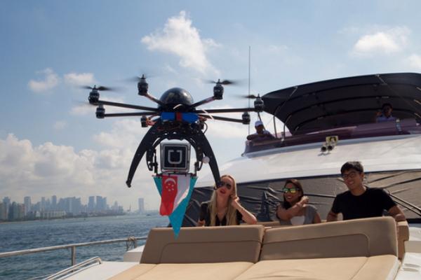 Uber запускает в США доставку еды дронами в тестовом режиме