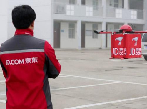 JD.com тестирует доставку дронами в сельские районы Китая