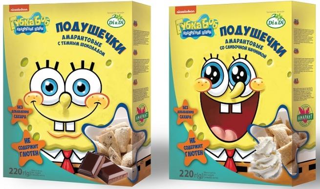 В России появятся продукты под брендом «Губка Боб»