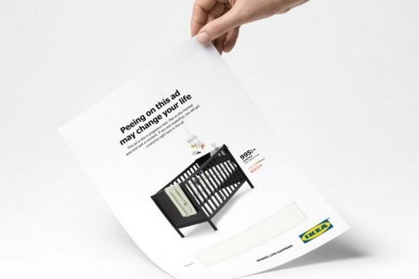 IKEA выпустила рекламные листовки, которые можно использовать как тест на беременность