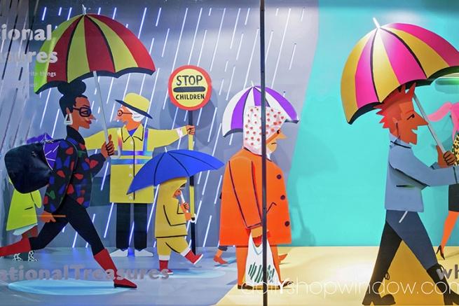 Самые стильные витрины мира: милые британские странности