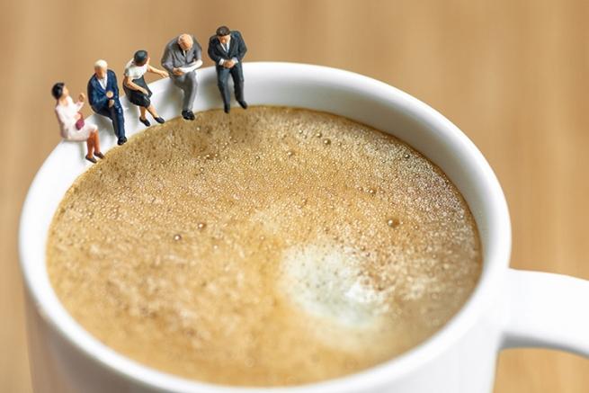 Бизнеса оценка словно кофе пенка