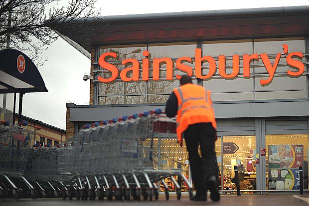 Продажи британской сети Sainsbury`s падают