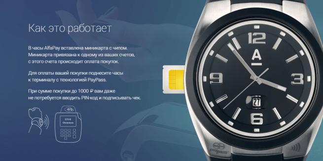 «Альфа-Банк» выпустил часы со встроенной дебетовой картой