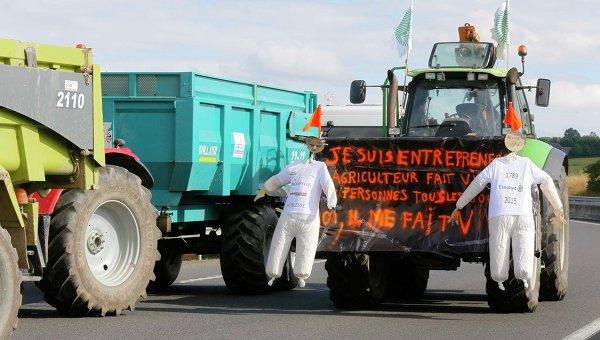 Французские фермеры не пускают мясо из Испании и Германии