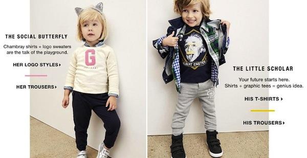 Gap обвинили в сексизме из-за рекламы детской одежды