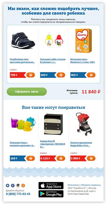Growth Hacking: повышение эффективности триггерных писем интернет-магазина детских товаров
